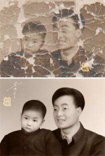 一张珍贵的老照片修复——天师画王收到的一封感谢博文