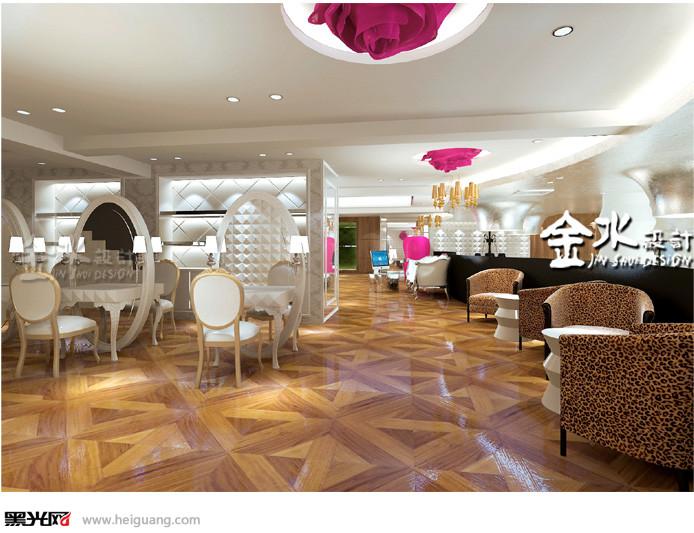 影楼化妆区设计施华洛婚纱影楼湖北襄阳店设计。