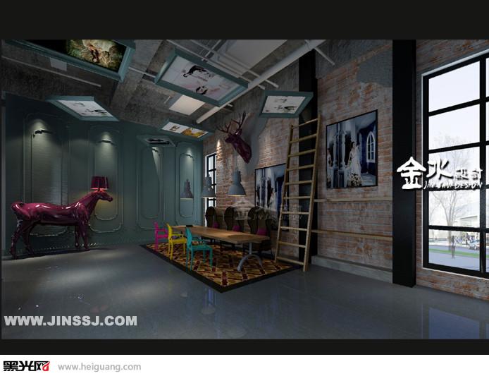 影楼设计|现代LOFT工业风