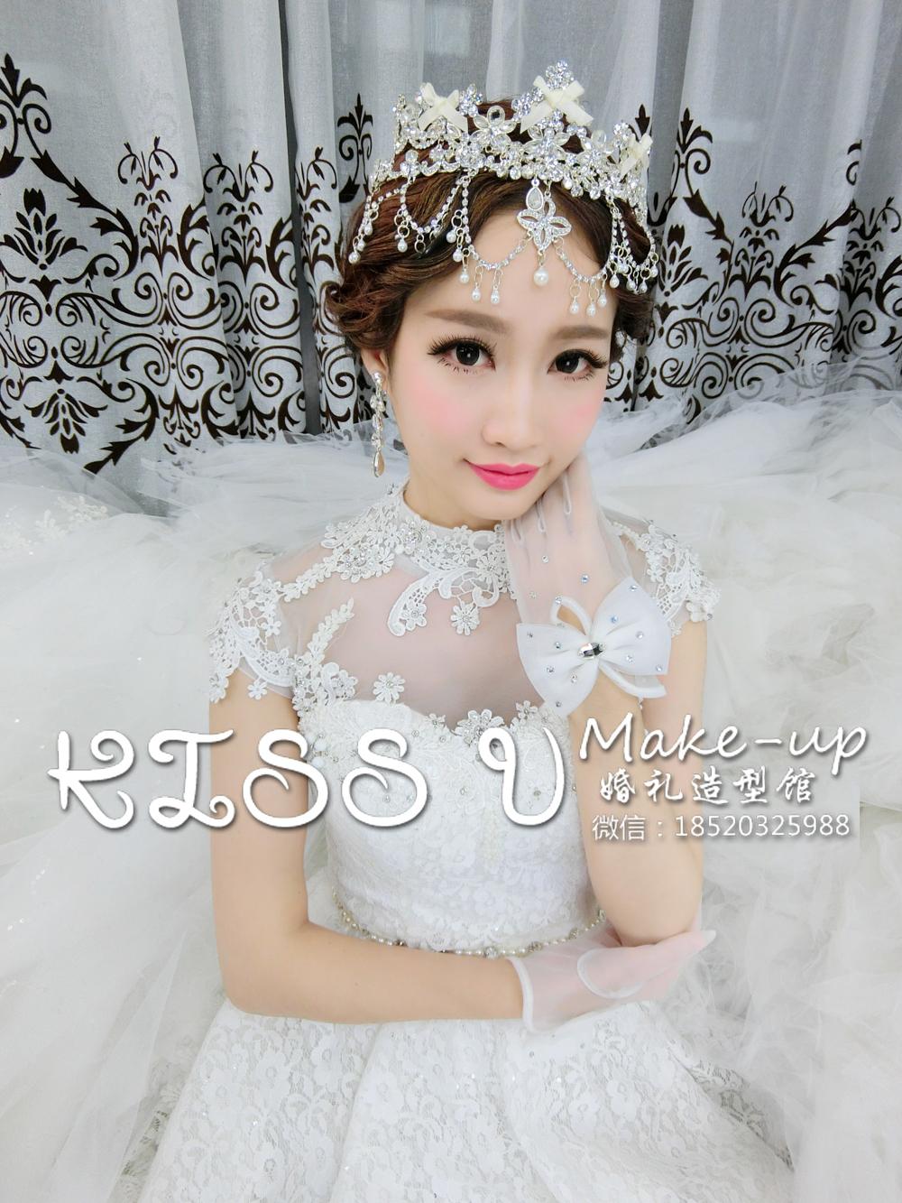 新娘皇冠造型-kiss u婚礼造型馆-广州化妆师婷婷