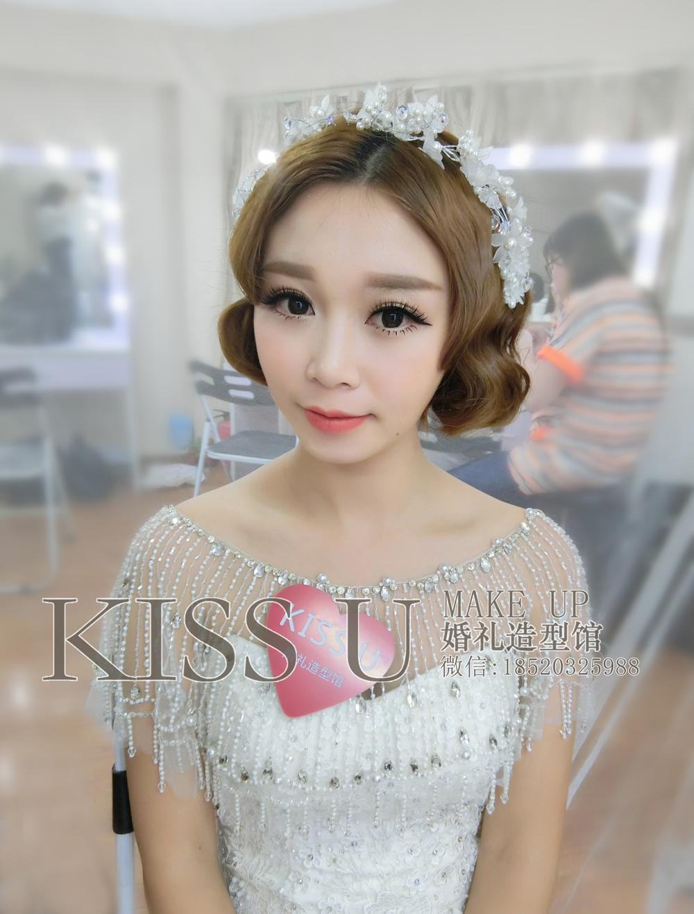 新娘短发造型分享-kiss
