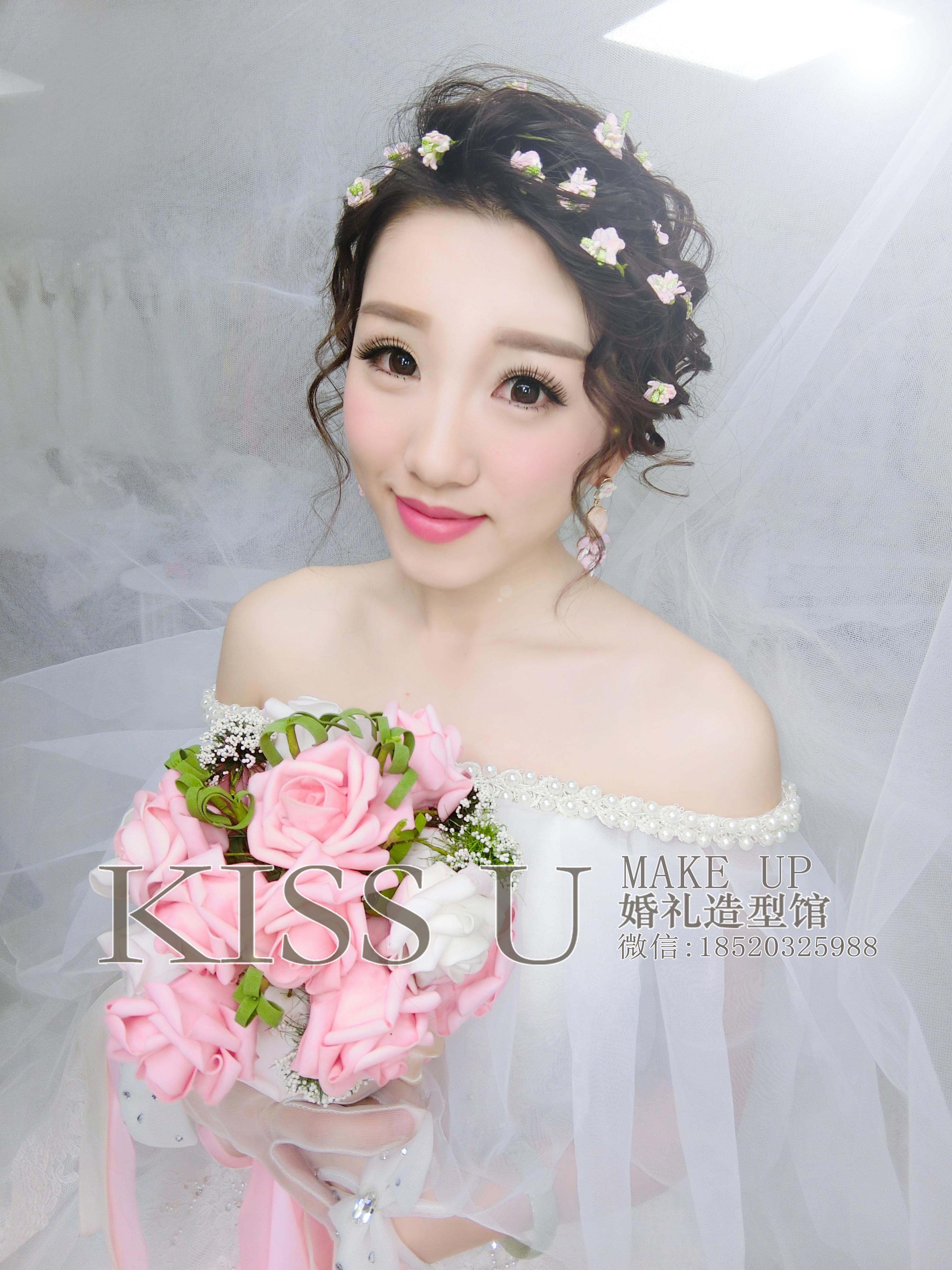 新娘造型分享-kiss u婚礼造型馆-广州化妆师婷婷