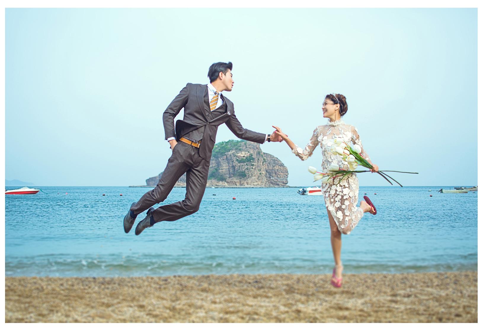 沈阳时尚经典婚纱摄影——大连棒棰岛