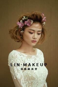 【 LIN·MAKEUP】罗涛老师︱唯美鲜花新娘造型