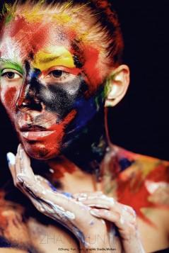 Female makeup paint