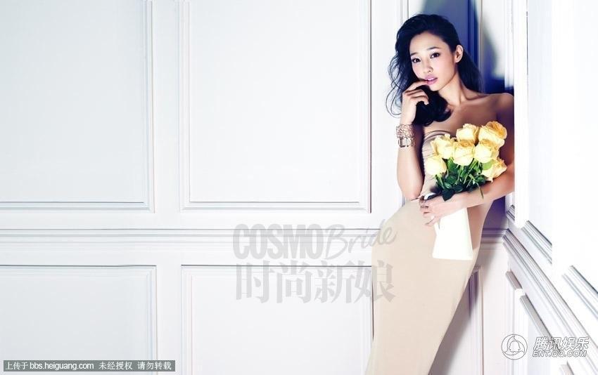 白百何时尚新娘造型 演绎纯美婚纱照图片