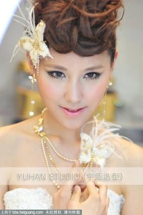 俏皮可爱新娘造型