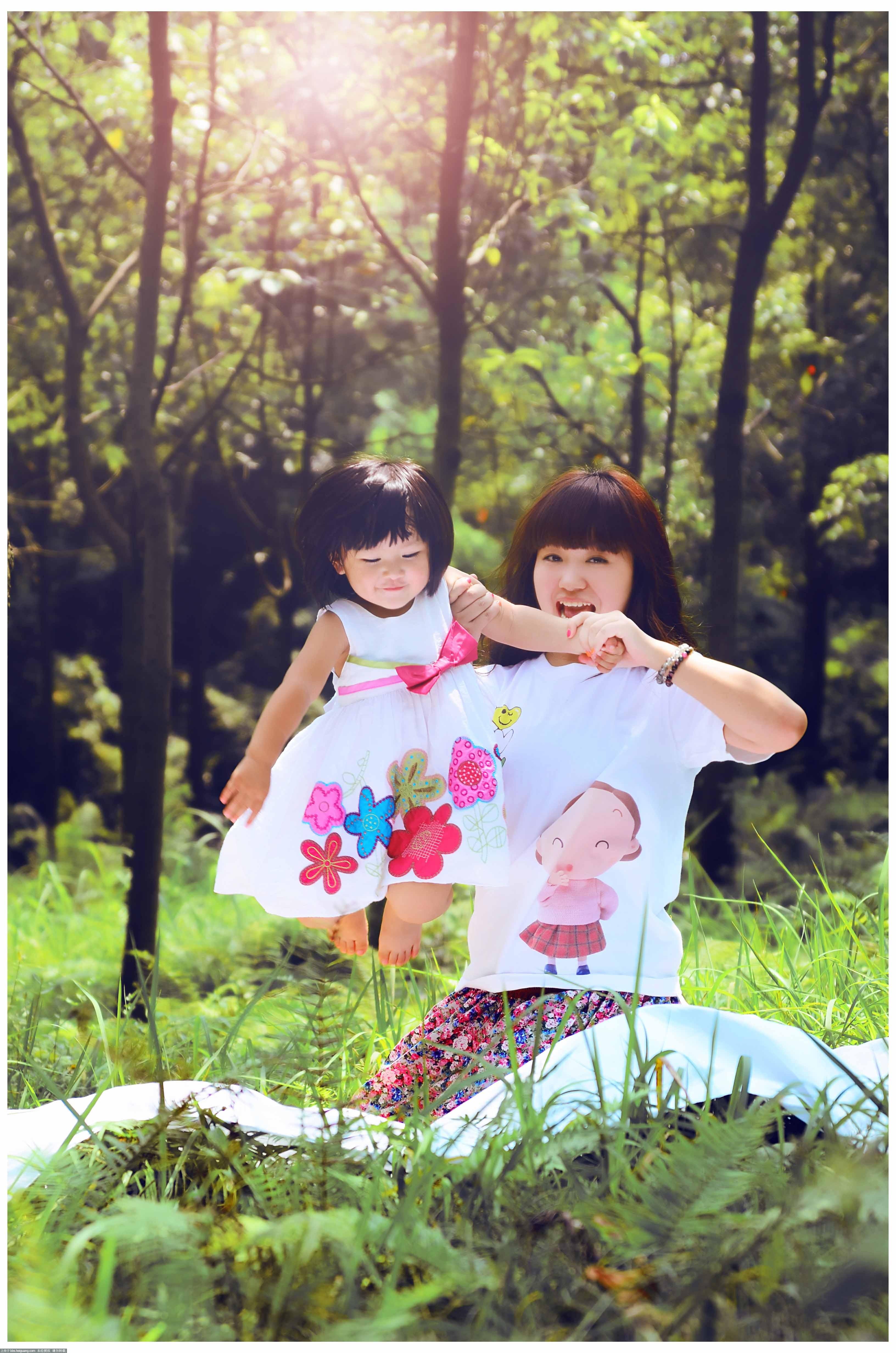 可爱多儿童摄影-亲子照
