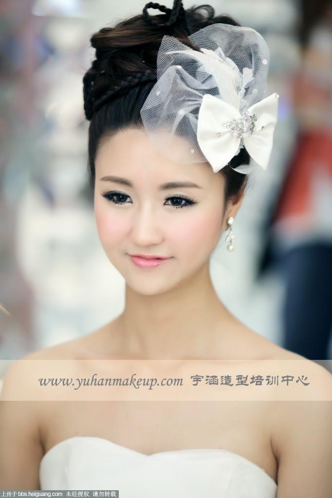 【宇涵彩妆培训中心】俏皮可爱的新娘妆