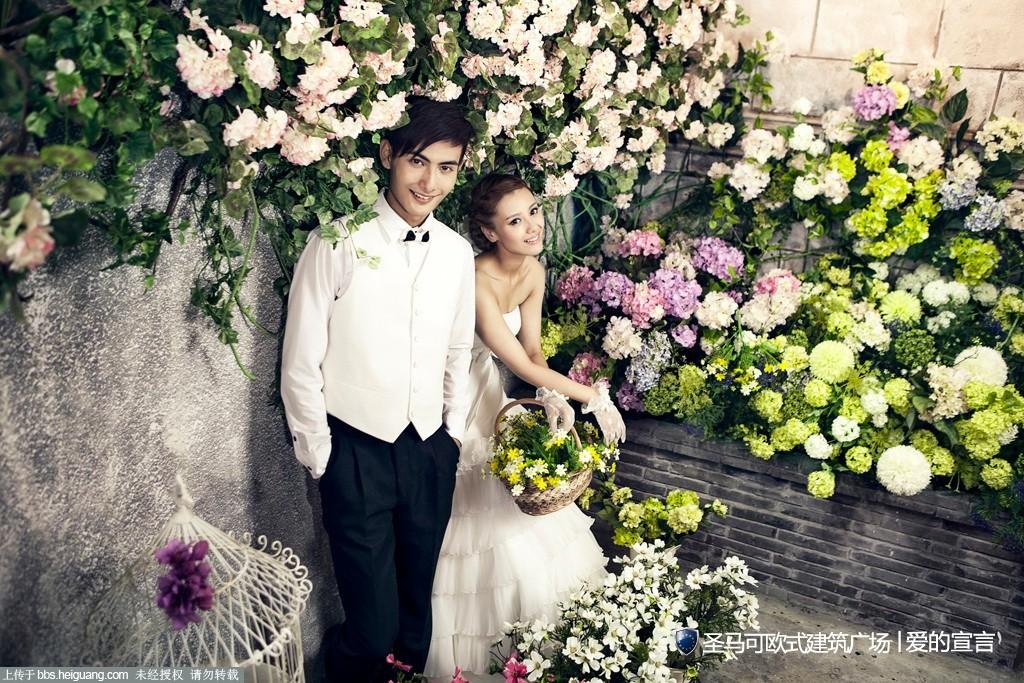 上海巴黎婚纱-人文艺术光效片场-圣马可欧式建筑广场