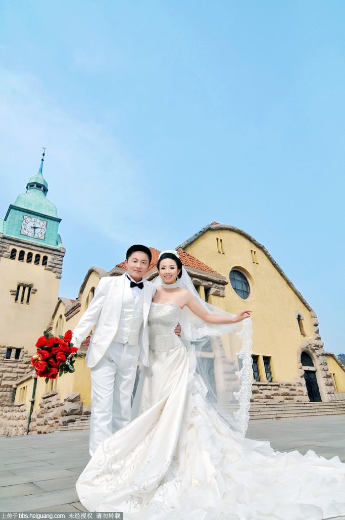 青岛拍婚纱照,勇敢尝试各种风格,大爱,美妞