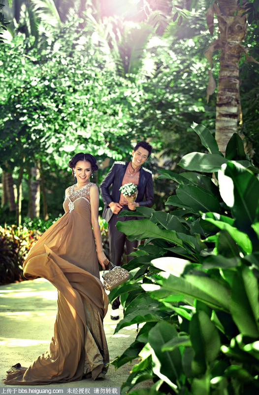 最新样片 三亚唯美浪漫外景婚纱照图片