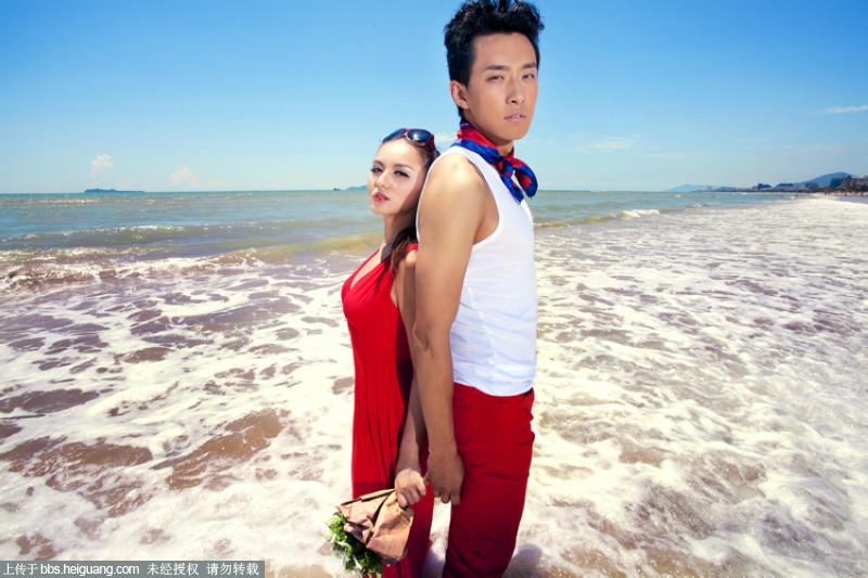 最新样片 三亚唯美浪漫海景婚纱照图片