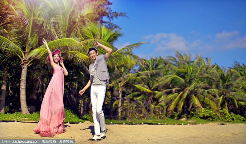 最新样片 三亚80后浪漫海景婚纱照图片