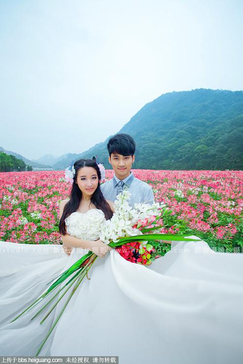 广州婚纱摄影工作室 从化石门公园婚纱摄影
