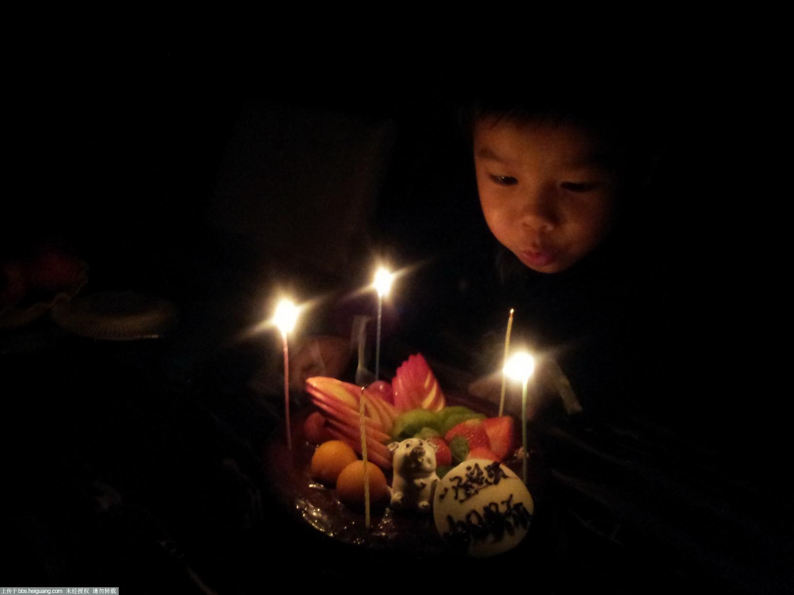生日吹蜡烛
