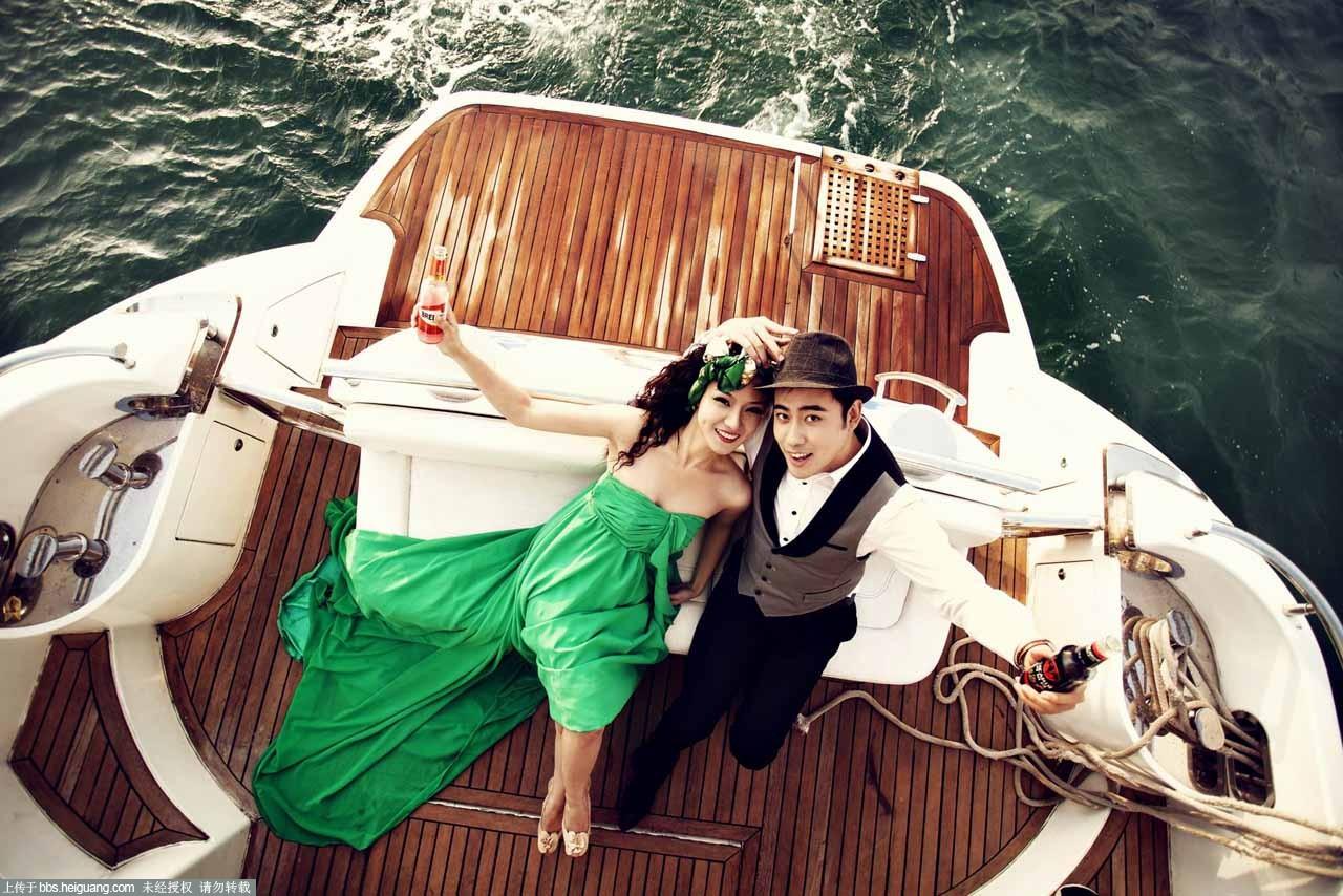 青岛婚纱摄影-青岛沸点视觉最新作品豪华游艇系列