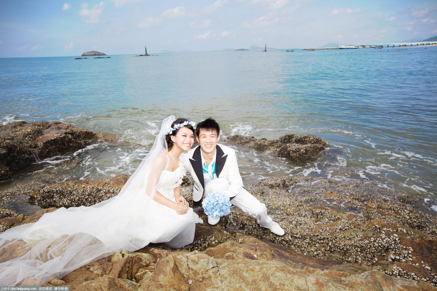 阳光海滩婚纱摄影