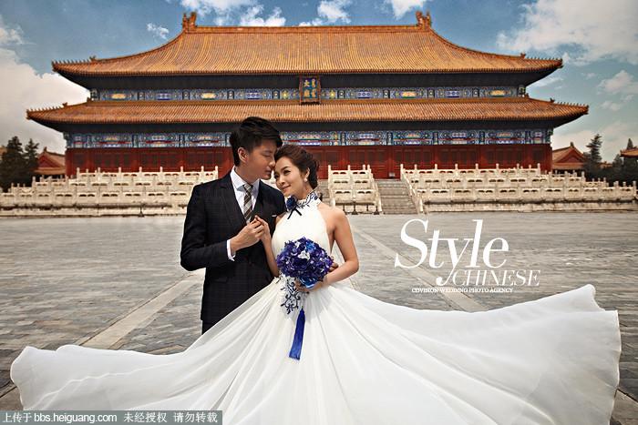 CD视觉太庙主题婚纱照样片 情迷太庙