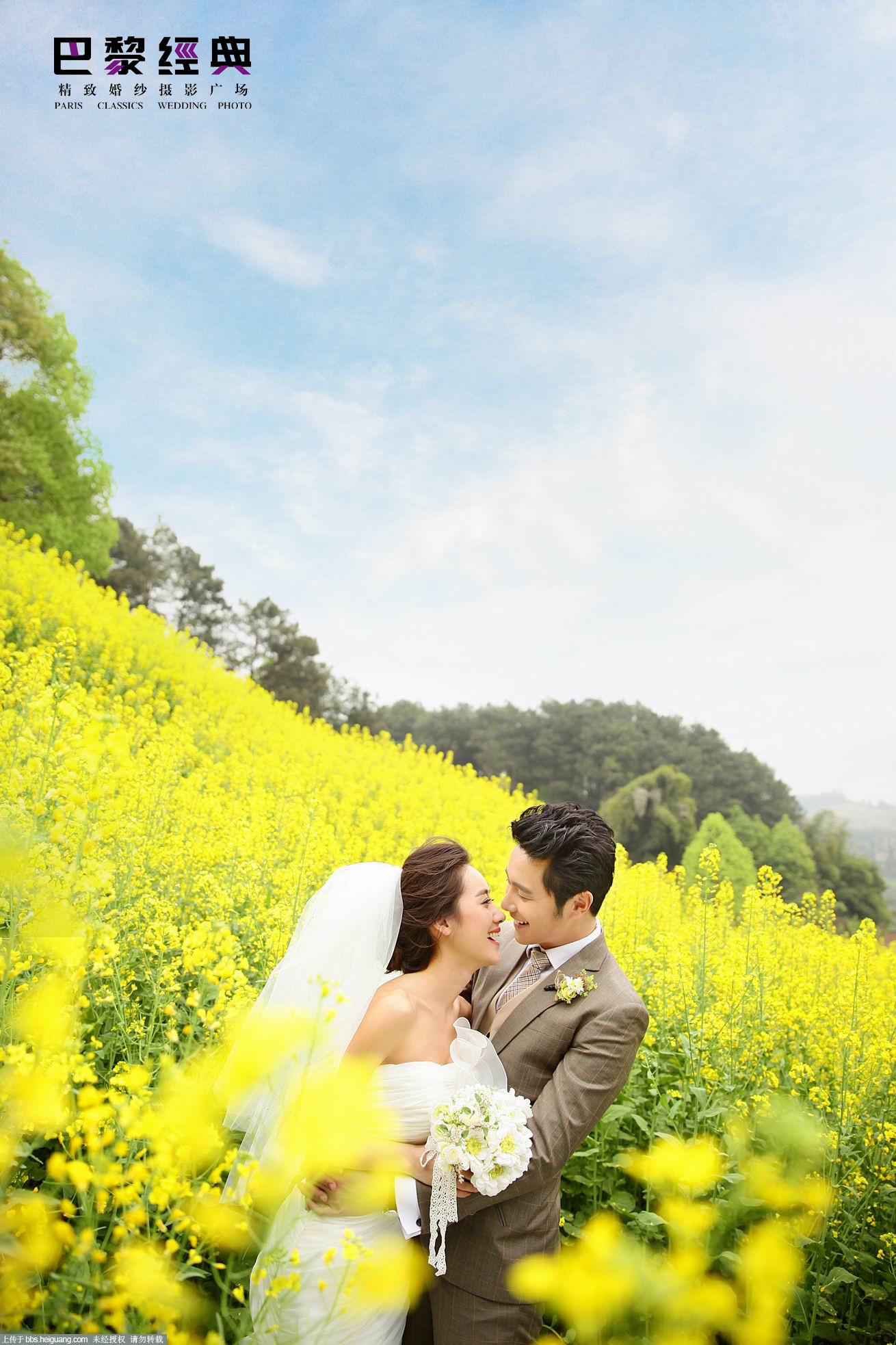 重庆巴黎经典婚纱摄影-样片欣赏