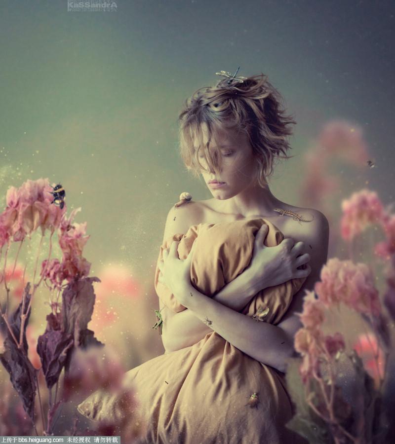 [转载]美女写真图片 kassandra:奇幻的大自然美女写真