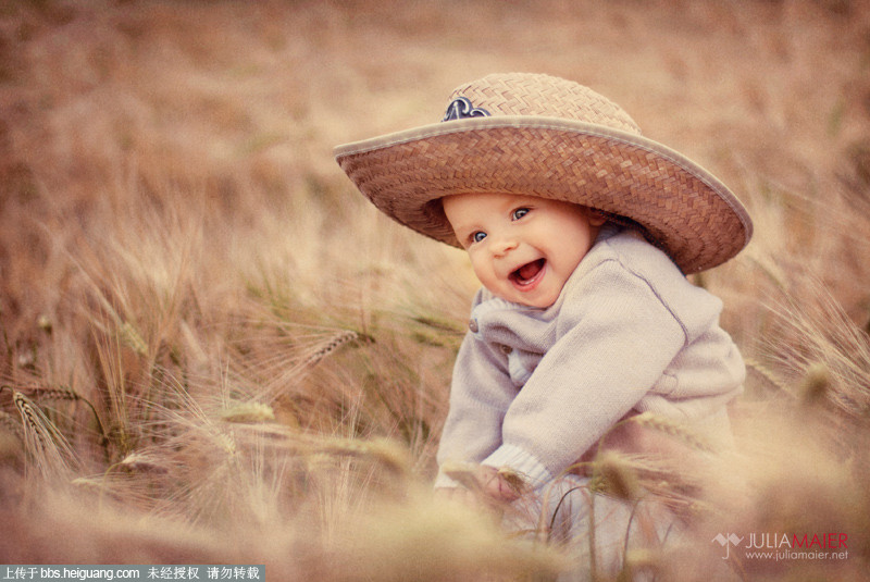 暖色调田园儿童摄影作品julia