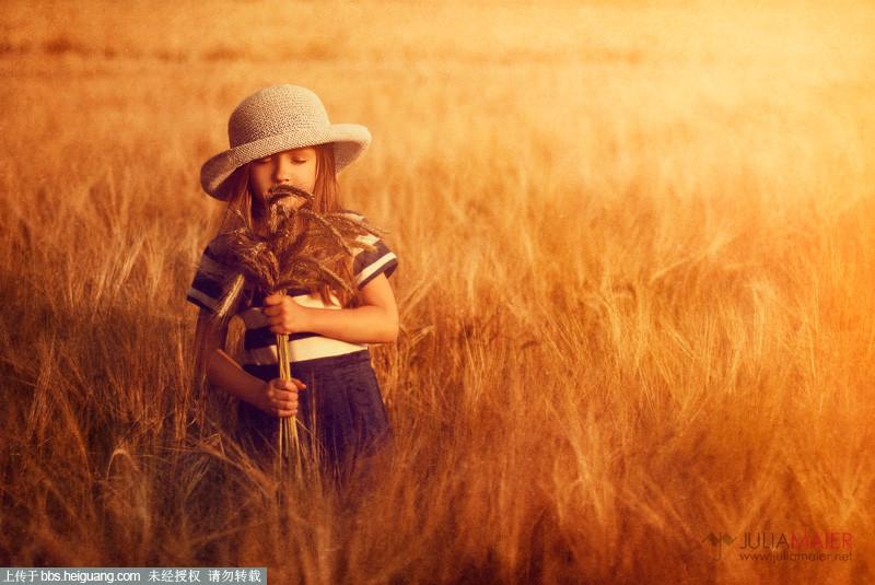 儿童摄影作品 暖色调田园儿童摄影作品julia