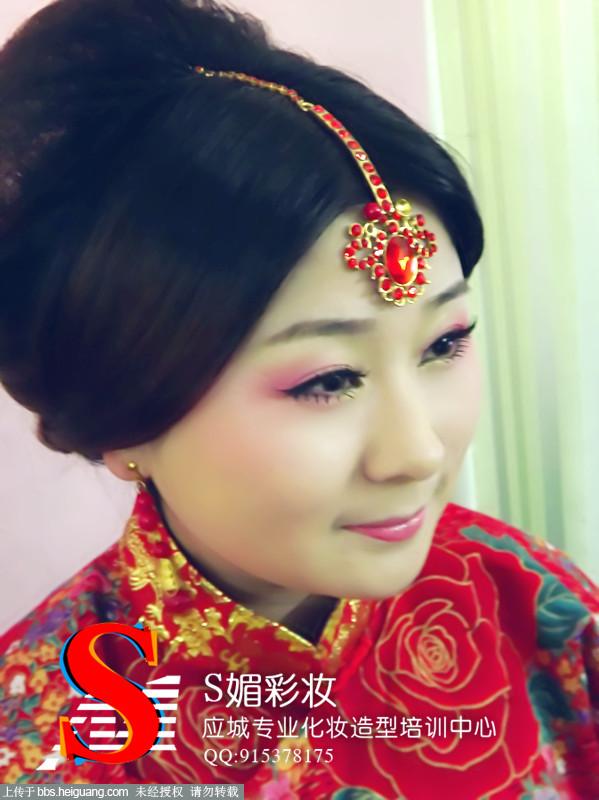 秀禾服新娘造型_发型设计图片