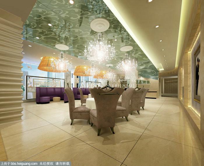 整个影楼空间都营造着温暖和谐的气息.米白色墙面搭配镜高清图片