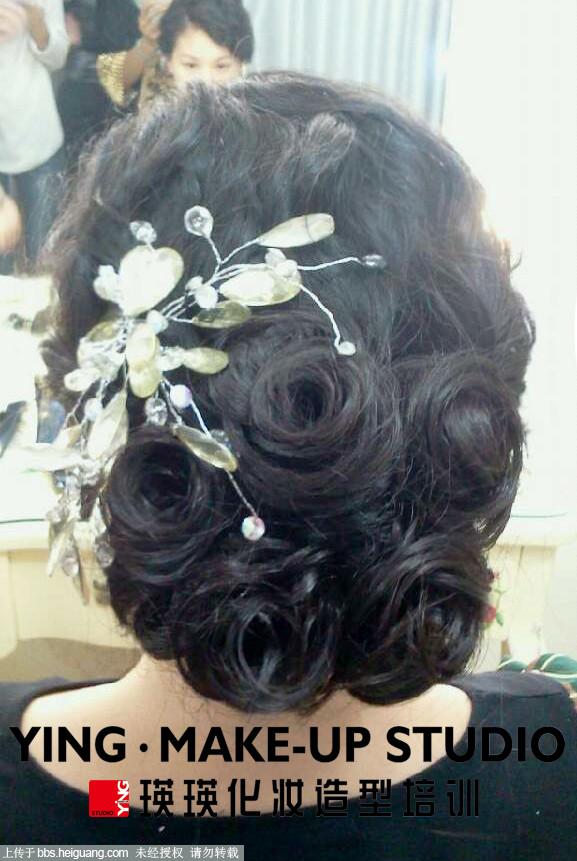 瑛瑛化妆造型培训---新娘发型