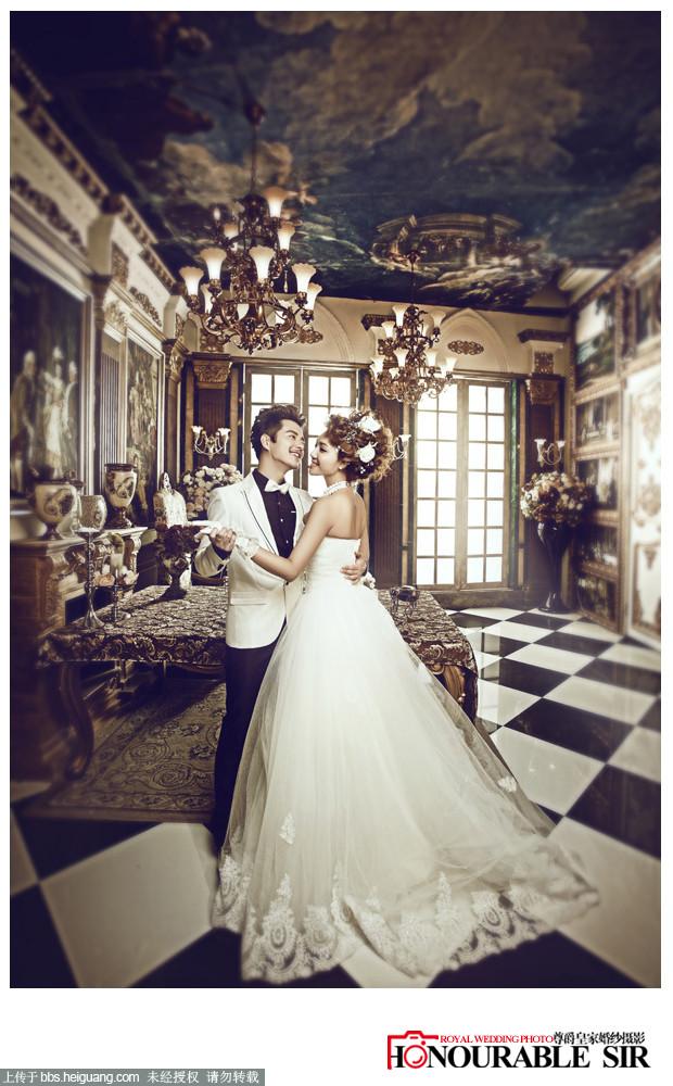 《皇室奢华经典婚纱照》壹公馆》大连欧式浪漫婚纱照
