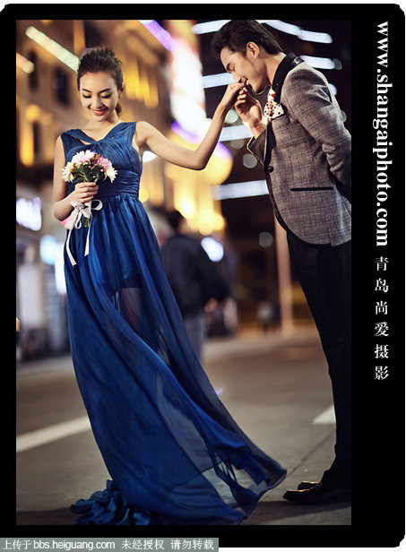 青岛尚爱婚纱摄影夜景样片展示《时尚芭莎夜》
