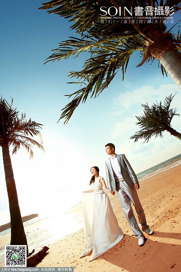 大连书音婚纱摄影之海景婚纱照