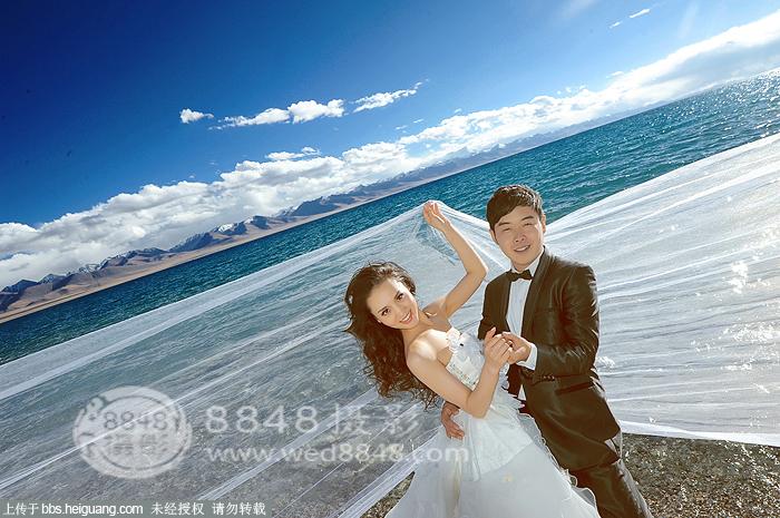我在纳木错拍西藏婚纱照