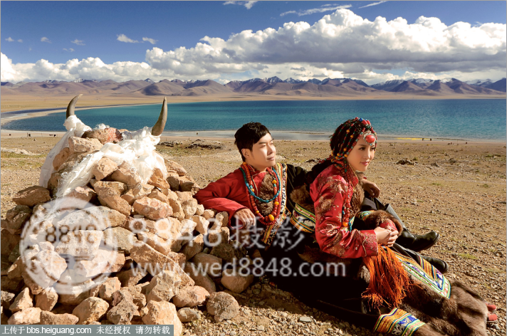 西藏婚纱摄影8848摄影纳木错婚纱照作品