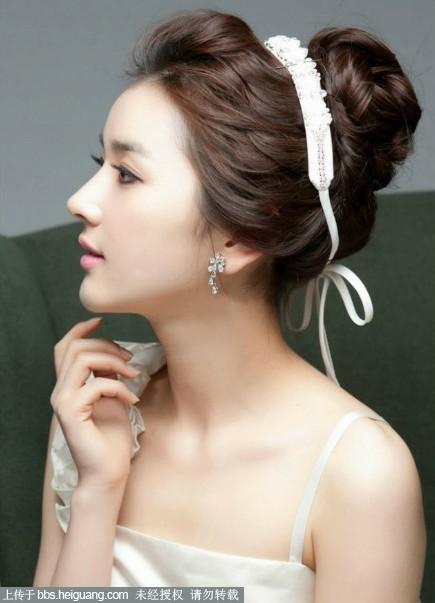 韩式简约新娘发型清新脱俗图片