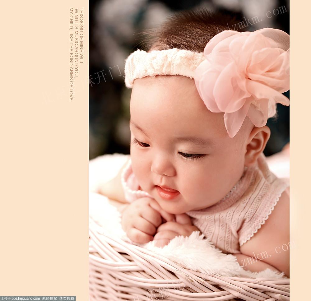 小清新百岁照--北京芝麻开门儿童摄影作品
