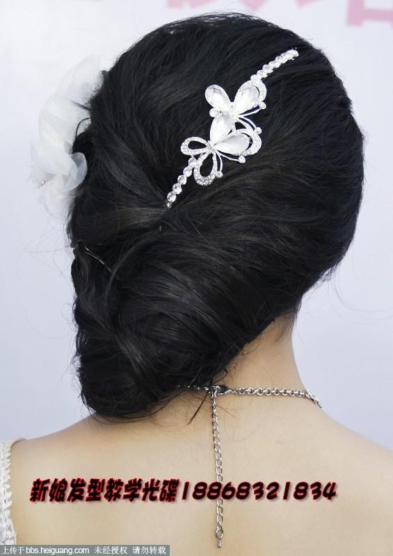 靓丽时尚韩式新娘婚礼发型妆容