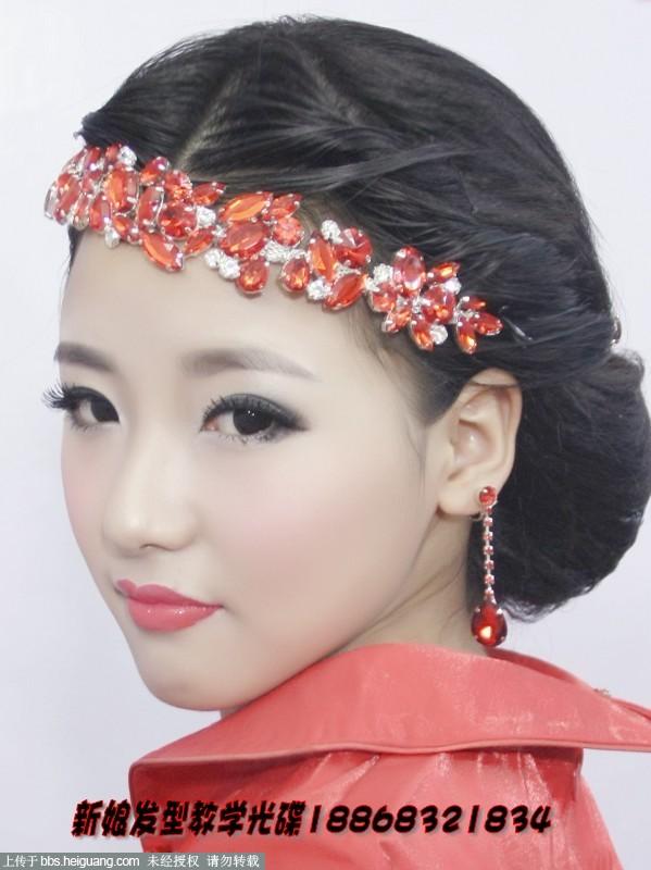 中国古典传统旗袍发型设计教学图片