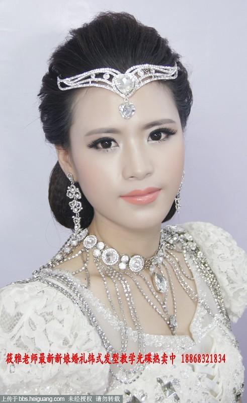 简单时尚明星范欧式新娘结婚发型图片