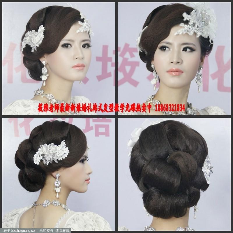 最好看的欧式新娘发型-妆前妆后对比照片