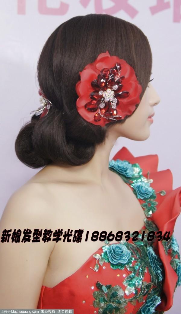 时尚贵族气质晚礼服新娘发型