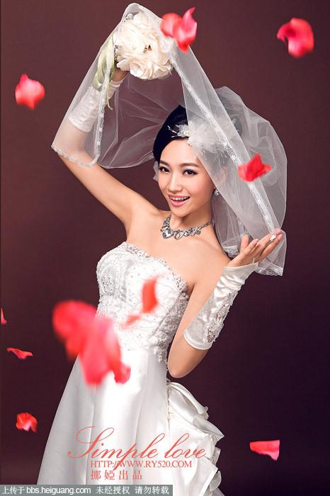 婚纱素描 花朵 步骤