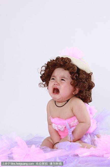 宝贝婚纱范拍摄 61  一周岁宝宝客片,挺可爱的宝宝,不是太爱笑0.