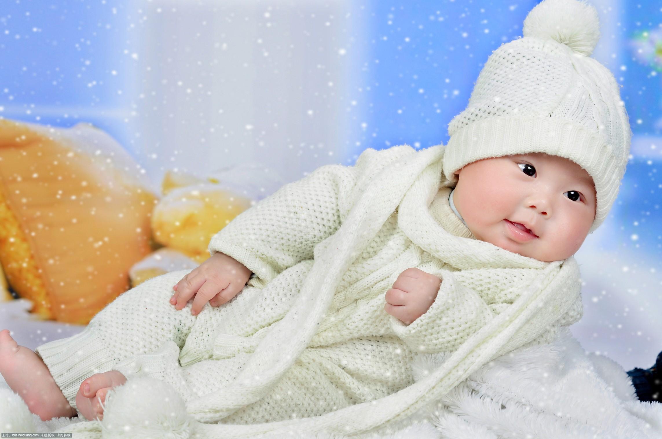 宝宝 百天照_儿童摄影作品_黑光论坛