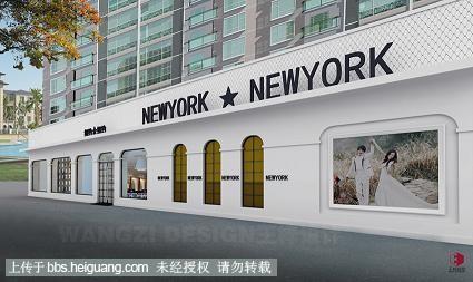 王梓婚纱影楼装修设计精品案例分享江西新余纽约纽约