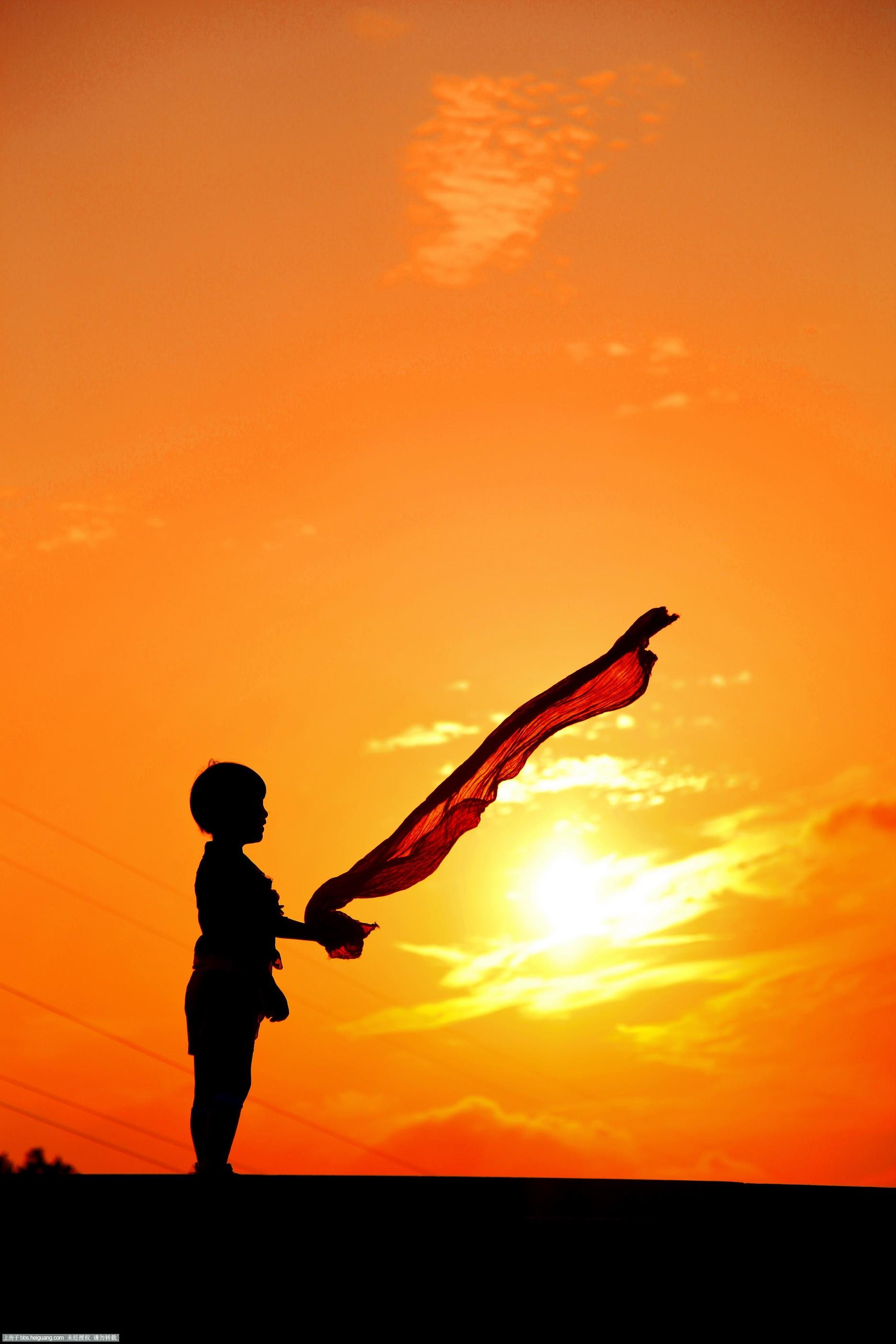 黑光论坛 69 作品欣赏 69 儿童摄影作品 69 最美不过夕阳时   &