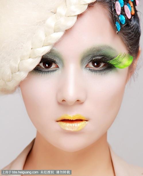 夸张创意妆_化妆造型作品图片