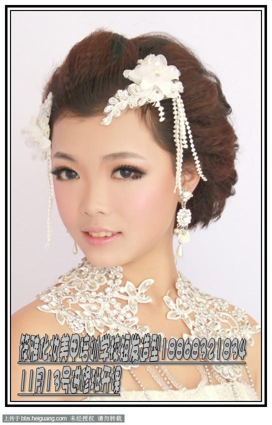 新娘结婚当天短发新娘如何盘发-短发新娘的发型怎么