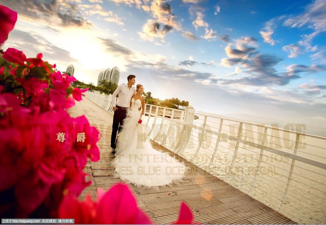 海景婚纱照《做最幸福的新娘》三亚凤凰岛最美海景